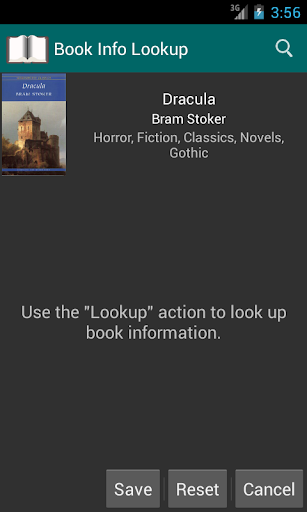 Book Info Lookup Add-on