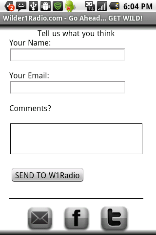 Wilder1Radio Internet Radio - screenshot