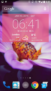 برنامج Weather & Clock Widget
