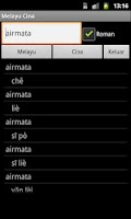 Screenshot of Malay Chinese Dictionary