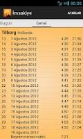 Screenshot of Imsakiye 2013