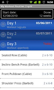 My Workout Routine- screenshot thumbnail