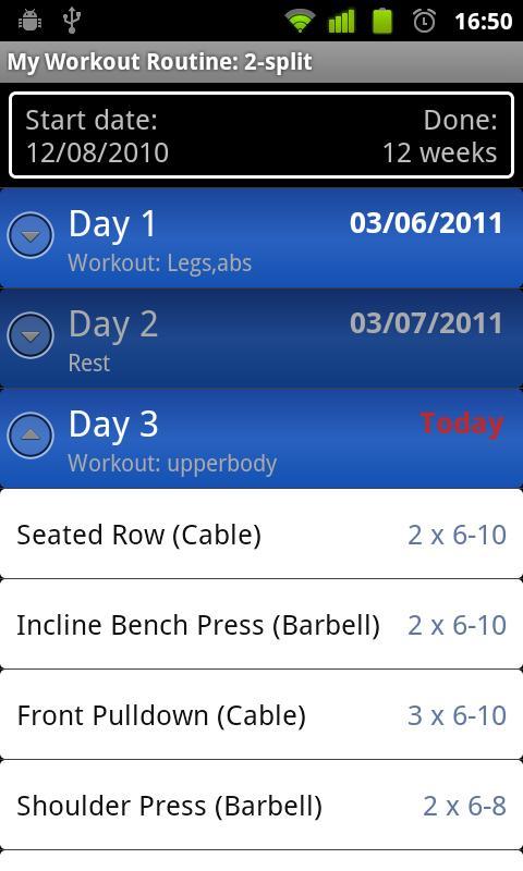 My Workout Routine- screenshot