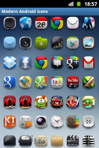 Modern Android icon pack- screenshot