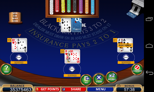 Blackjack 21+ Casino Card Game  1