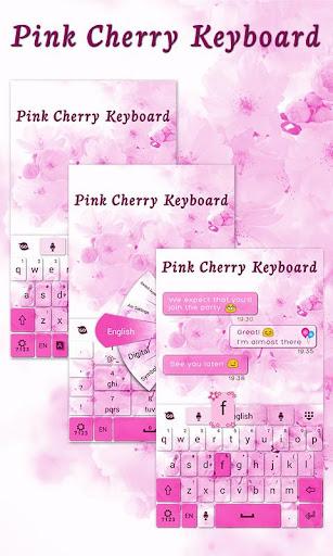 Pink Cherry GO Keyboard Theme