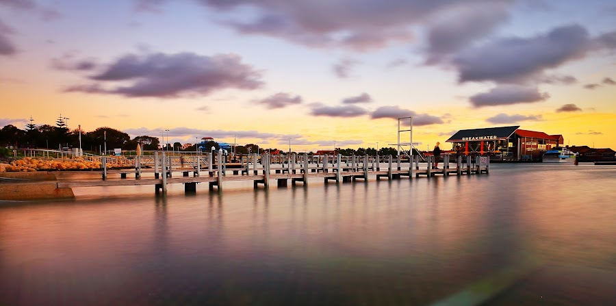 Hillarys Sunset by Jacqui Hunt - Landscapes Waterscapes (  )