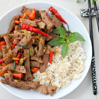 Thai Basil Beef Stir Fry.
