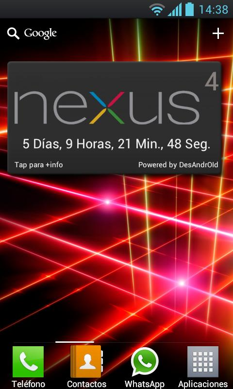 Nexus 4 Widget - screenshot
