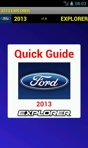 Quick Guide 2013 Ford Explorer