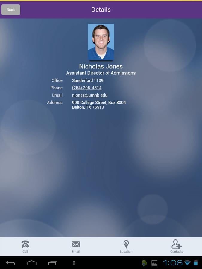 UMHB Cru Mobile- screenshot