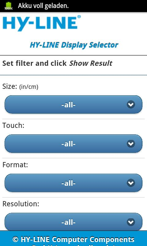 HY-LINE Display Selector - screenshot