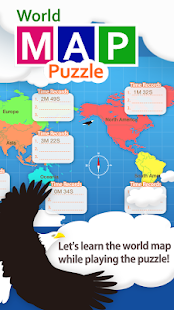 World Map Puzzle for Kids- screenshot thumbnail