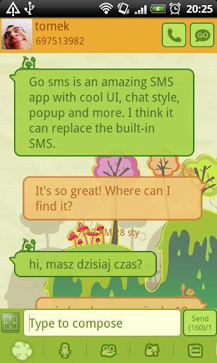 GO SMS Pro Mushrooms Theme