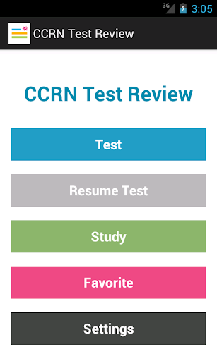 CCRN Test Review