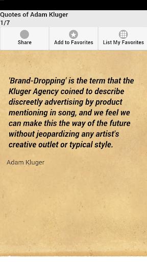 Quotes of Adam Kluger