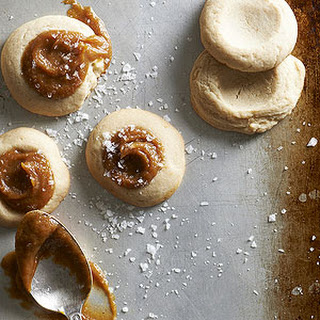 Salted Pumpkin Caramel Thumbprints