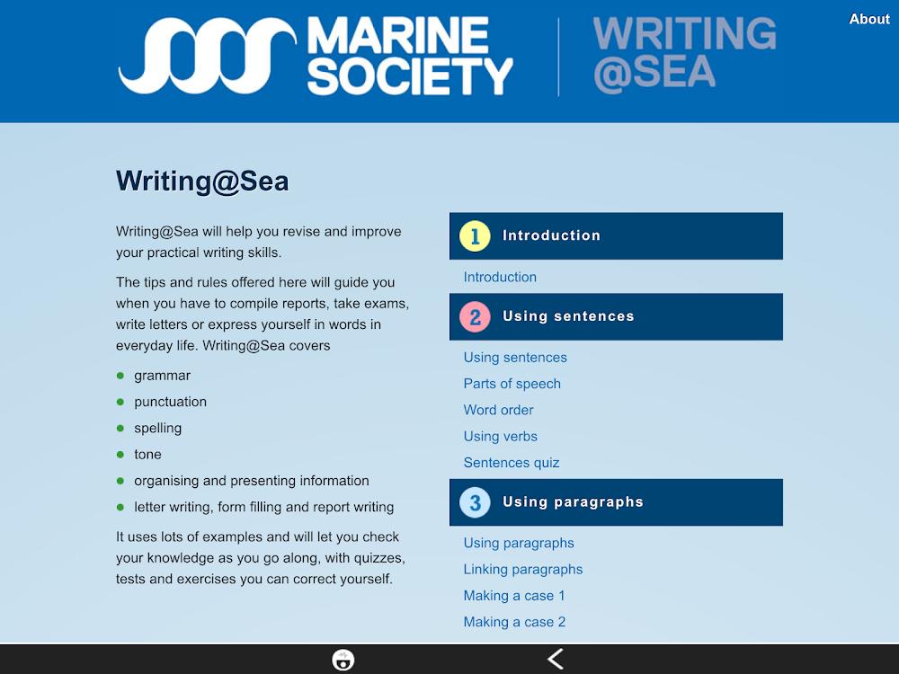 Writing at Sea – (Android Apps) — AppAgg