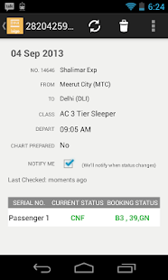 PNR Status Rail Train Flight - screenshot thumbnail
