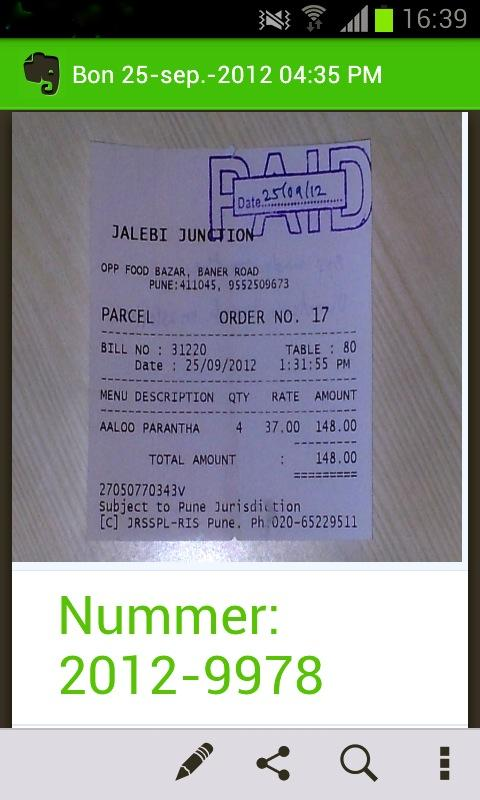YOB Receipt- screenshot