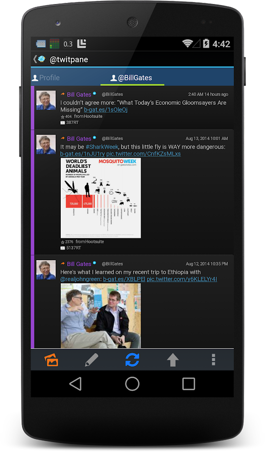 TwitPanePlus for Twitter- screenshot