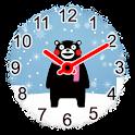 紙 時計ウィジェット くまモン icon