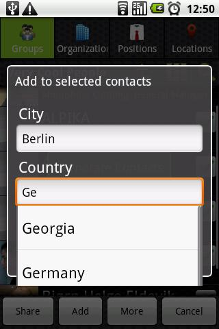 Corporate Contacts- screenshot