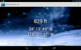 Screenshot of Travel Altimeter Lite