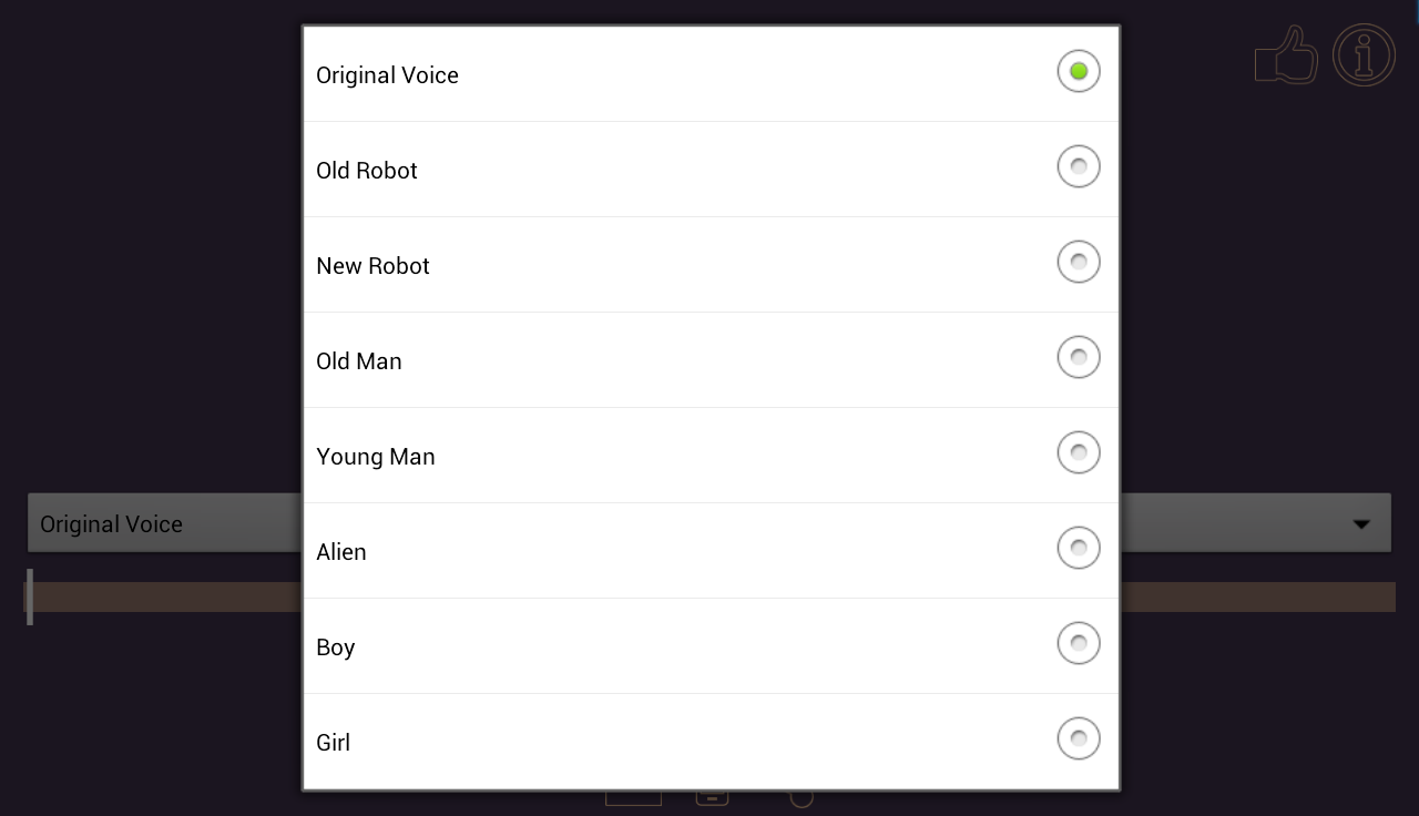 Voice & MP3 Changer Ringtones - screenshot