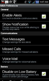 Missed Message Alerts - FOSS - screenshot thumbnail