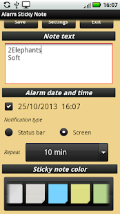 Alarm Sticky Note (reminder) - screenshot thumbnail