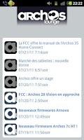 Screenshot of Le Flux RSS d'ArchosLounge