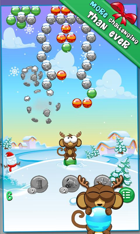 Bubble Monkey Xmas - screenshot