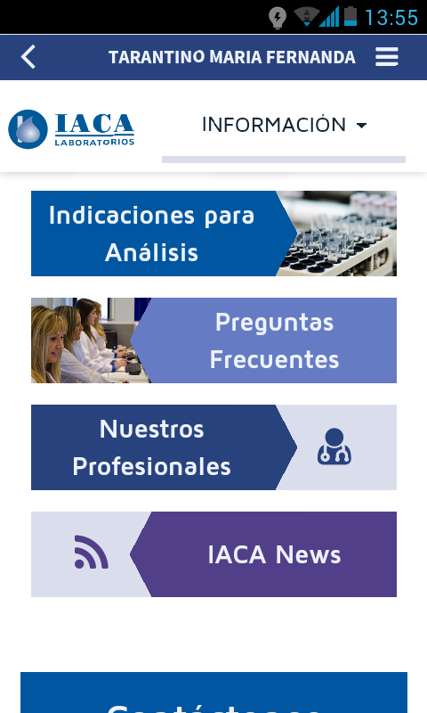 IACA Lab: captura de pantalla