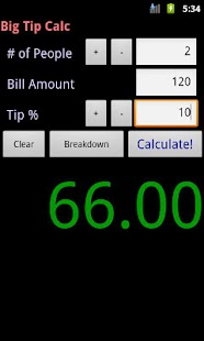 Big Tip Calc - Tip Calculator- screenshot thumbnail