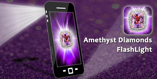Amethyst Diamonds FlashLight