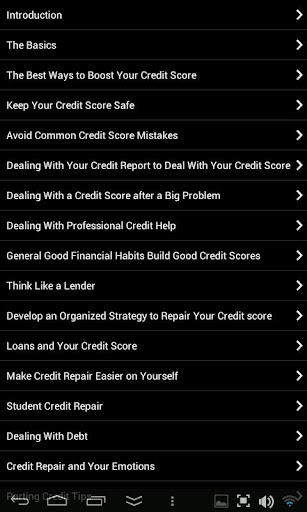 【免費書籍App】101 Credit Score Fixes-APP點子