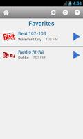 Screenshot of Irish Radio