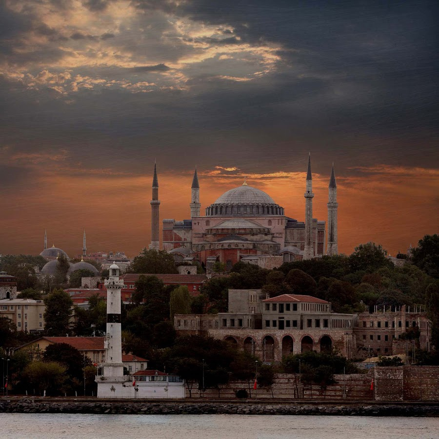 Hagia Sophia from the Golden Horn by Richard Flinn - Buildings & Architecture Places of Worship ( istanbul turkey minarets mosque church monument golden horn lighthouse dome arches architecture,  )