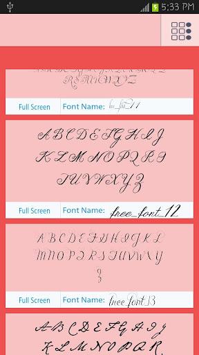 【免費生產應用App】50 Romance Fonts Style-APP點子