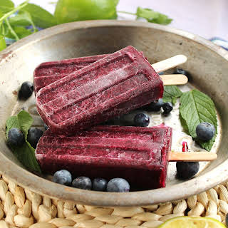 Blueberry Mojito Popsicles.