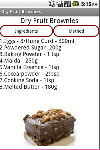 Recipe for a simple cake in microwave