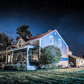 Homestead at night by Sean Malley - Buildings & Architecture Homes