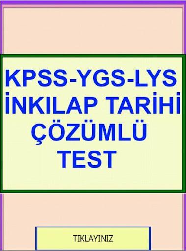 KPSS YGS LYS İnkılap Test Çzml