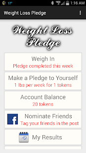 Weight Loss Pledge- screenshot thumbnail