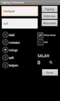 Screenshot of Tagalog Indonesian Dictionary