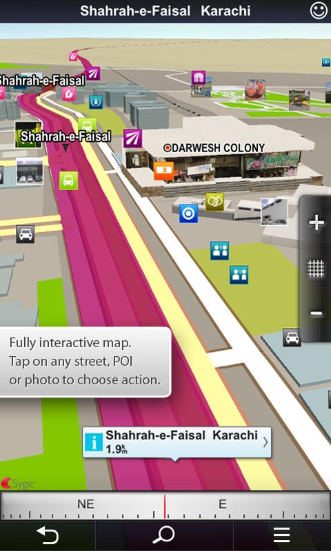 Sygic & Trakker Nav Pakistan - screenshot