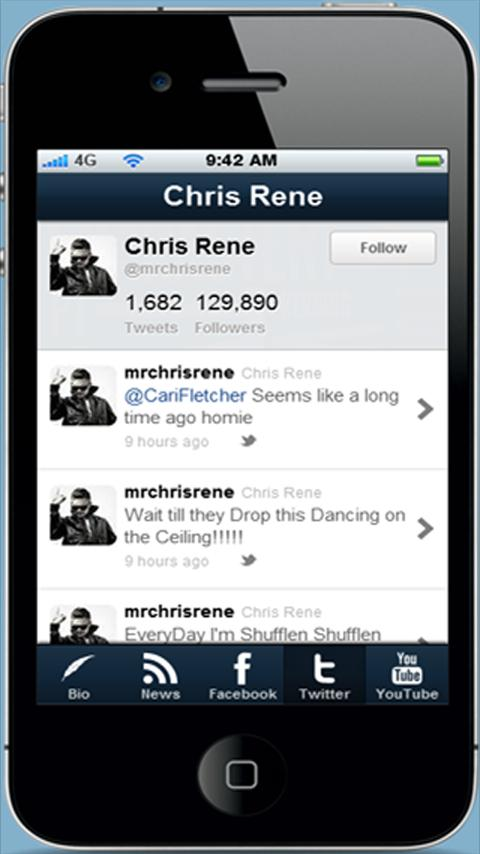 Chris Rene Fan App - screenshot
