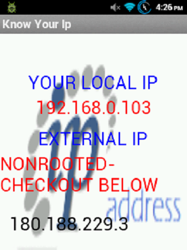 Know your Ip- screenshot