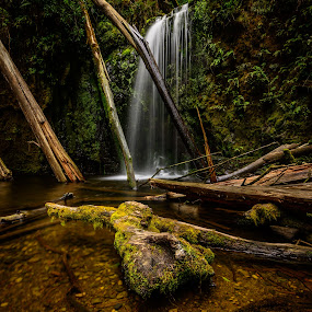 Mar falls by Alan Wright - Landscapes Waterscapes